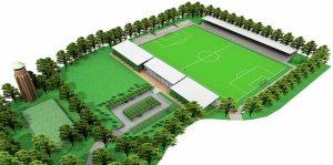 Het Future Center Wageningen oogt ambitieus. Foto afkomstig van: www.stadiondewageningseberg.nl