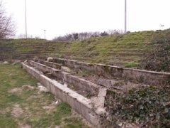 Oude tribunes van de Kraal